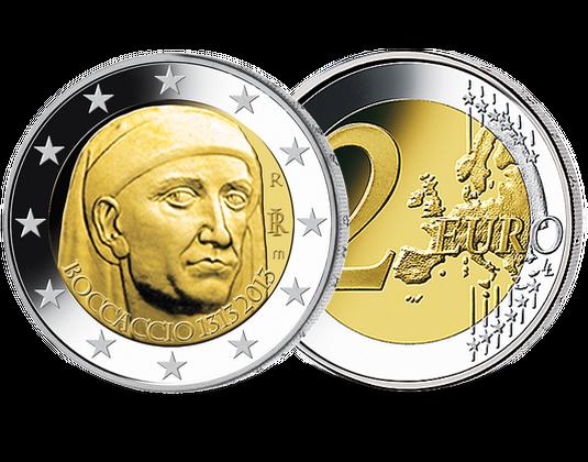 2 Euro Italien 2013 Giovanni Boccaccio Mdm Deutsche Münze
