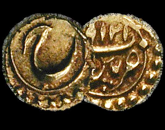 Goldmünze Indien Fanam Mdm Deutsche Münze