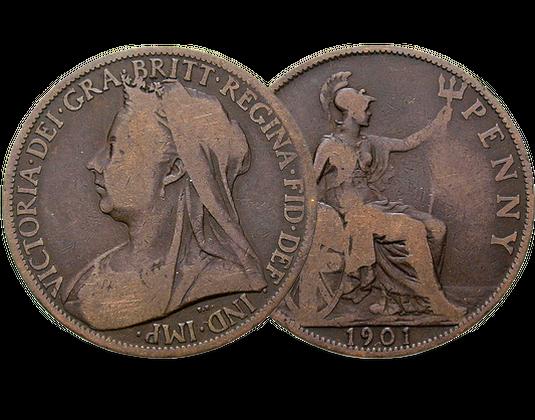 Großbritannien Victoria Penny Mdm Deutsche Münze