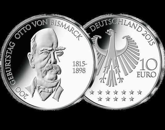 10 Euro Münze 2015 Bismarck Mdm Deutsche Münze