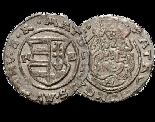 Silberdenar Ungarn 1608 1619 Kaiser Matthias Mdm Deutsche Münze