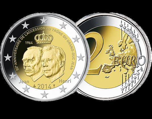 2 Euro Luxemburg 2014 50 Jahre Thronbesteigung Mdm Deutsche Münze