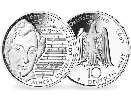 10 Dm Münze 2001 Albert Lortzing Mdm Deutsche Münze