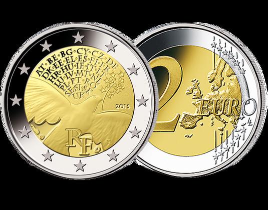 2 Euro Frankreich 2015 70 Jahre Frieden Mdm Deutsche Münze