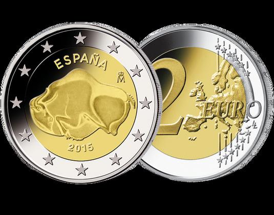 2 Euro Spanien 2015 Höhle Von Altamira Mdm Deutsche Münze