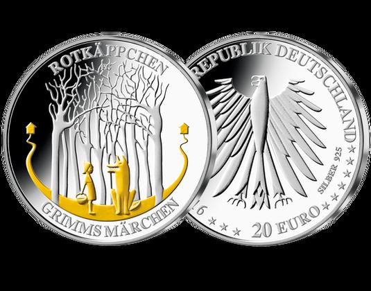 20 Euro 2016 Rotkäppchen Feingold Mdm Deutsche Münze