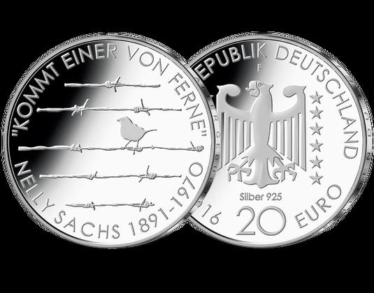 20 Euro Silbermünze 2016 125 Geburtstag Nelly Sachs Mdm