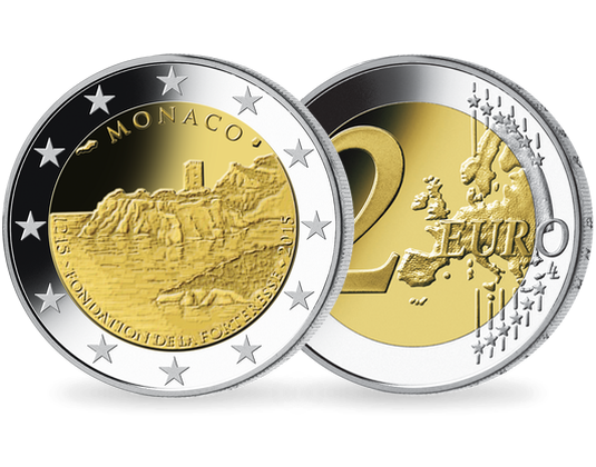 2 Euromünze 2015 Monaco Festung Mdm Deutsche Münze