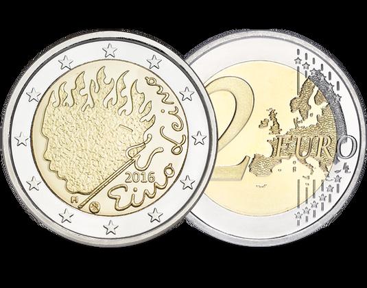 2 Euro Gedenkmünze Eino Leino 2016 Aus Finnland Mdm Deutsche Münze
