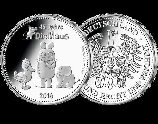 Silberausgabe Die Maus Mdm Deutsche Münze