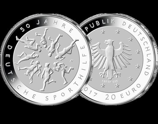 20 Euro Silber Gedenkmünze 50 Jahre Deutsche Sporthilfe Mdm