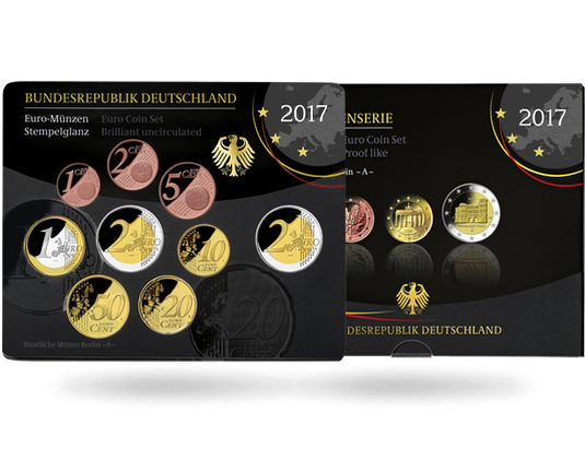 Deutsche Kursmünzensatz 2017 Mdm Deutsche Münze