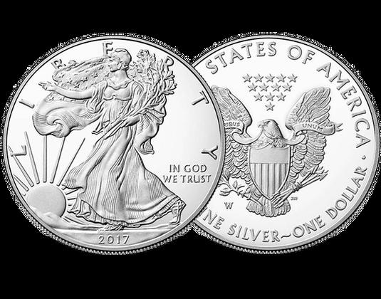 Silbermünze Usa 2017 1 Dollar Silver Eagle Mdm Deutsche Münze