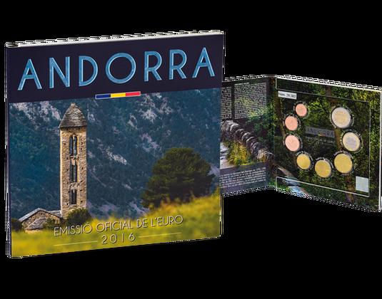 Der Kursmünzensatz 2016 Aus Andorra Mdm Deutsche Münze