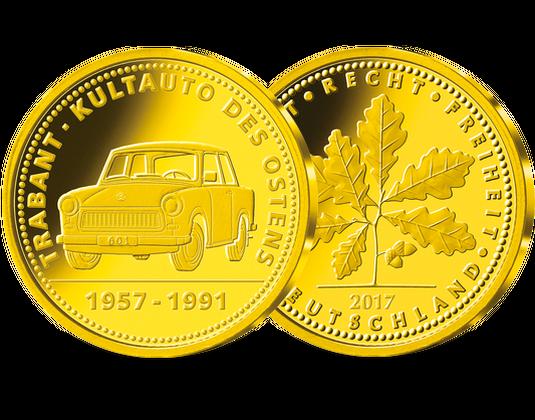 Gold Gedenkprägung Trabant 2017 Mdm Deutsche Münze