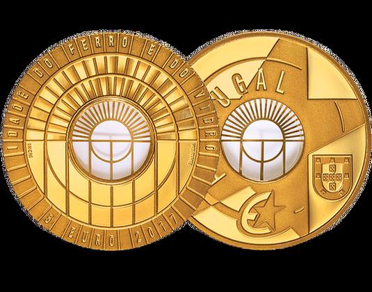 Portugal 2017 Gedenkmünzen Europa Stern 2017 Eisen Glas