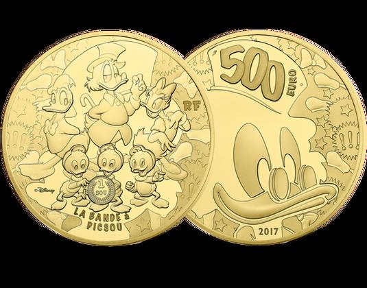 Goldmünze Frankreich 2017 500 Euro Dagobert Duck Mdm Deutsche Münze