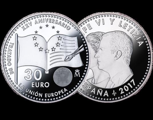 Spanien 2017 Silbermünze Vertrag Von Maastricht Mdm Deutsche Münze