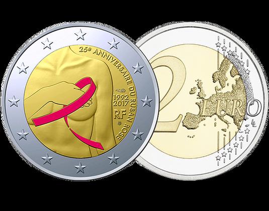 Frankreich 2017 2 Euro Gedenkmünze Gegen Brustkrebs Mdm Deutsche Münze