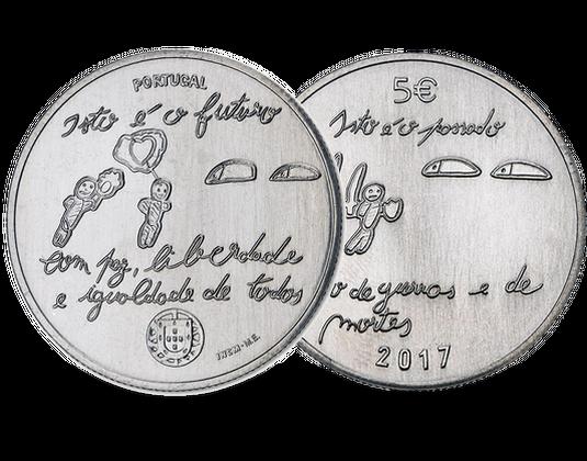 Portugal 2017 5 Euro Gedenkmünze Die Jugend Und Die Zukunft Mdm