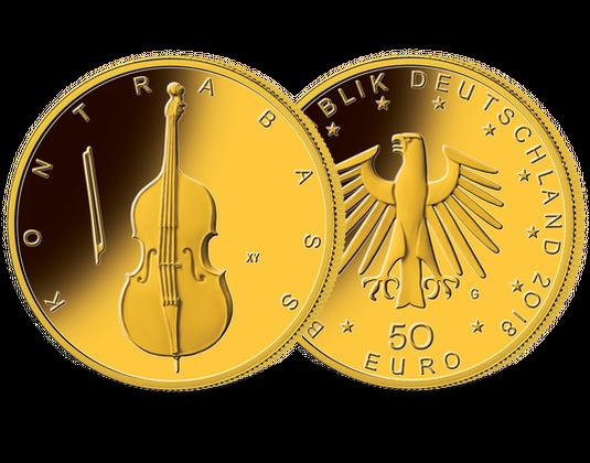 Die Erste 50 Euro Goldmünze Aus Der Serie Musikinstrumente 2018