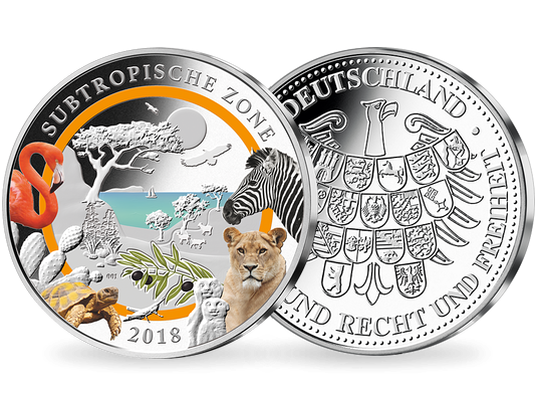 3 Unzen Silber Ergänzungsprägung Zur 5 Euro Münze Subtropen Mit