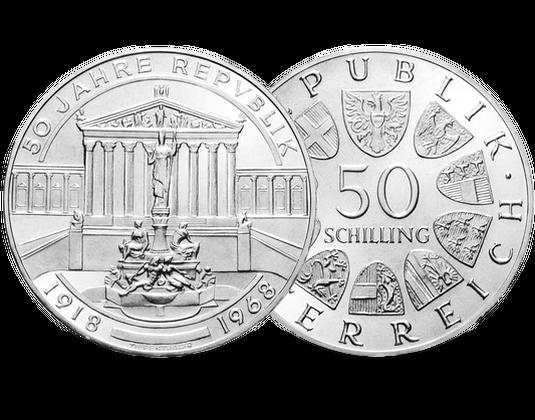 österreich 50 Schilling 1968 50 Jahre Republik Mdm Deutsche Münze