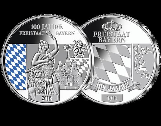 Silber Gedenkprägung 100 Jahre Freistaat Bayern Mdm Deutsche Münze