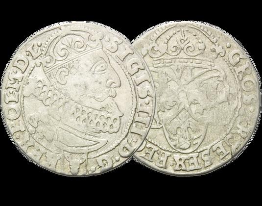 Polen Sechsgröscher 1587 1632 Sigismund Iii Mdm Deutsche Münze