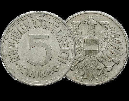 österreich 5 Schilling 1952 Mdm Deutsche Münze