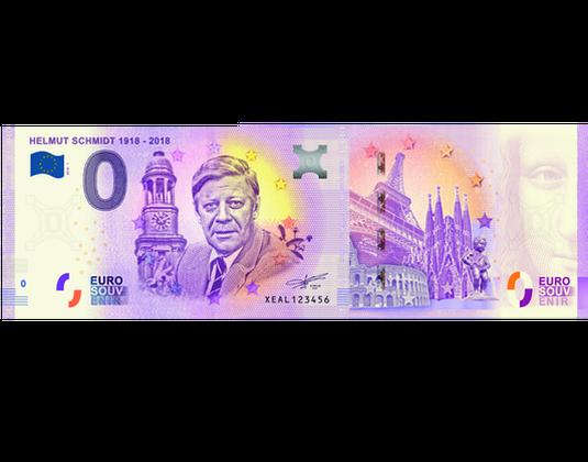 0 Euro Schein Helmut Schmidt Mdm Deutsche Münze