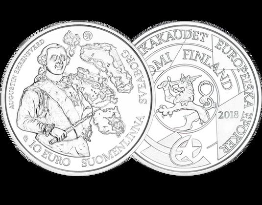 Finnland 2018 10 Euro Silbermünze Europa Stern Serie The Baroque