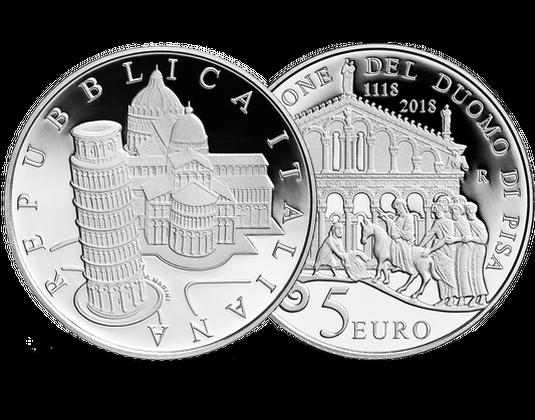 Italien 2018 5 Euro Silbermünze 900 Jahrestag Der Kathedrale Von