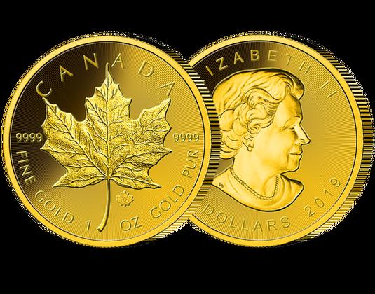 Goldmünze Gold Maple Leaf Aus Kanada Mdm Deutsche Münze
