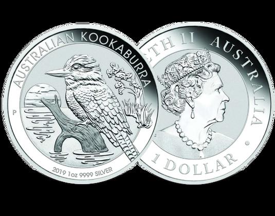 1 Unze Silbermünze Australien 2019 Kookaburra Mdm Deutsche Münze