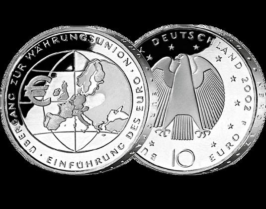 10 Euro Münze Einführung Des Euro Mdm Deutsche Münze