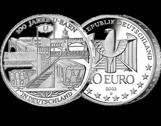 10 Euro Münze U Bahn Mdm Deutsche Münze