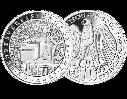 10 Dm Münze 2001 Bundesverfassungsgericht Mdm Deutsche Münze