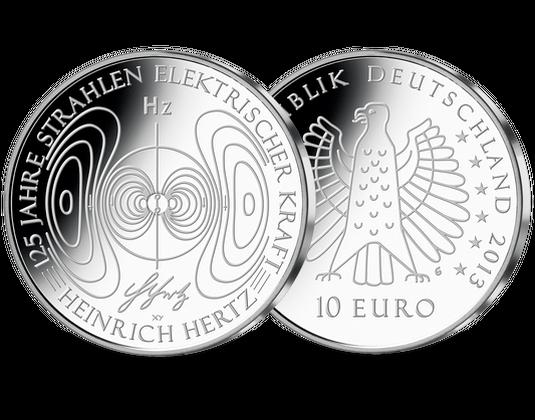 Die Deutsche 10 Euro Gedenkmünze 125 Jahre Strahlen Elektrischer