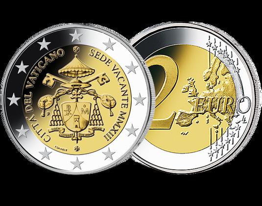 2 Euro Vatikan 2013 Sedisvakanz Mdm Deutsche Münze