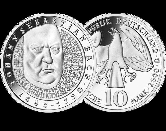 10 Dm Münze 2000 Johann Sebastian Bach Mdm Deutsche Münze