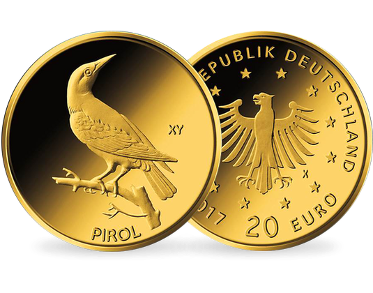 20 Euro Gold Gedenkmünze Heimische Vögel Pirol 2017 Mdm