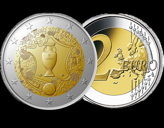 Monnaie Francaise 2 Euros Uefa Societe Francaise Des Monnaies