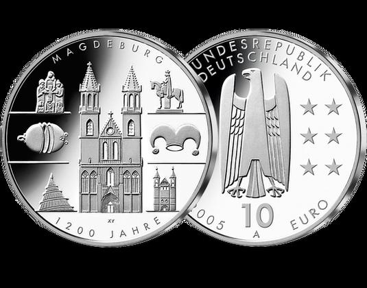 10 Euro Münze Magdeburg Mdm Deutsche Münze