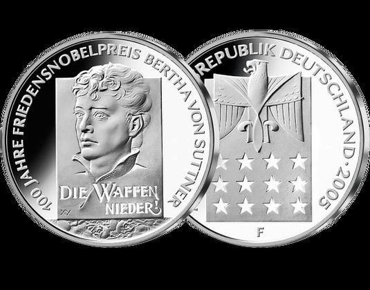 10 Euro Münze Bertha Von Suttner Mdm Deutsche Münze