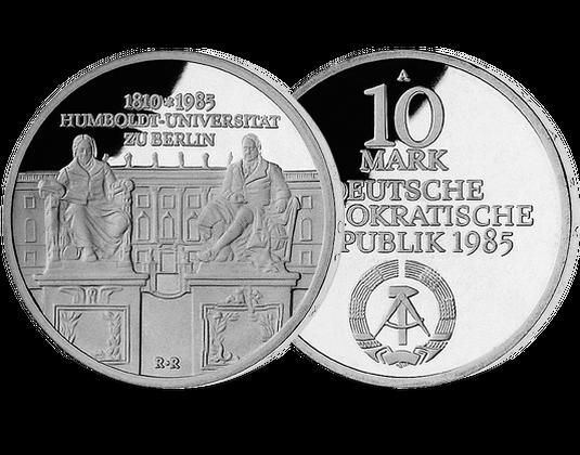 10 Mark Ddr 1985 Humboldt Universität Berlin Mdm Deutsche Münze