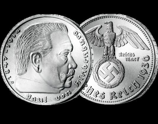 2 Reichsmark Silbermünze Hindenburg Mdm Deutsche Münze