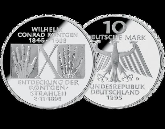 10 Dm Münze 1995 W C Röntgen Mdm Deutsche Münze