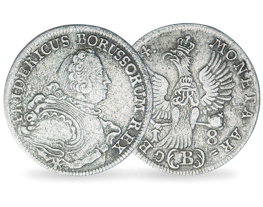 Preußen Achtzehngröscher Friedrich Der Große Mdm Deutsche Münze