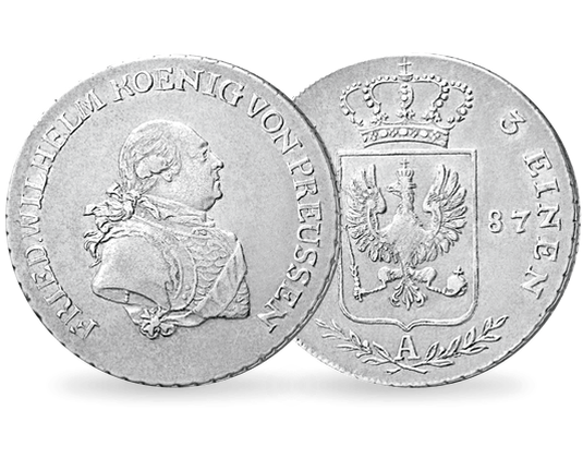 Silbermünze 13 Taler Wilhelm Ii Preußen Mdm Deutsche Münze